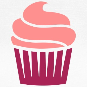 cupcake two-colored cupcake to-farvet T-shirts - Dame-T-shirt
