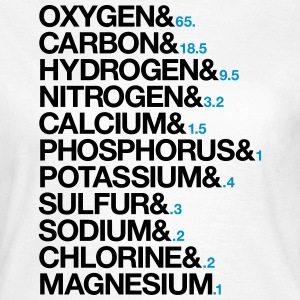 Elements of human body elementer af menneskekroppen T-shirts - Dame-T-shirt