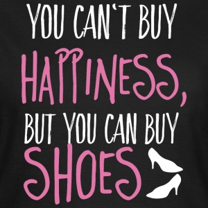 Cant buy happiness, but shoes kan ikke købe lykke, men sko T-shirts - Dame-T-shirt