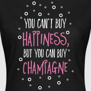 Cant buy happiness, but champagne kan ikke købe lykke, men champagne T-shirts - Dame-T-shirt