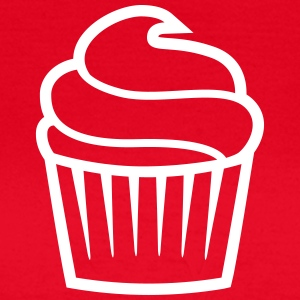 cupcake one-colored cupcake enfärgad T-shirts - T-shirt dam