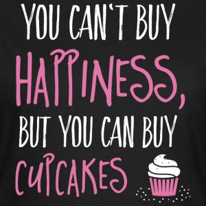 Cant buy happiness, but cupcakes kan ikke købe lykke, men cupcakes T-shirts - Dame-T-shirt