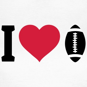 I love football T-skjorter - T-skjorte for kvinner
