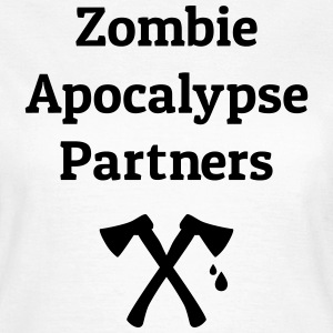zombie apocalypse partners T-shirts - Dame-T-shirt