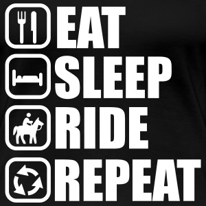 Eat,sleep,ride,repeat - Horse riding t-shirt  - Women's Premium T-Shirt