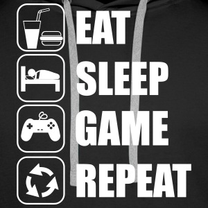 Eat,sleep,game,repeat Gamer Gaming  - Männer Premium Hoodie