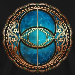 Vesica Piscis, Chalice Well, Sacred Geometry space T-Shirts - Men's Premium T-Shirt