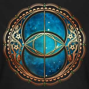 Vesica Piscis, Chalice Well, Avalon, Galaxy, Space Magliette - Maglietta da donna