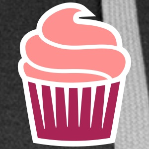 cupcake three-colored cupcake tre-farget Gensere - Premium hettejakke for kvinner