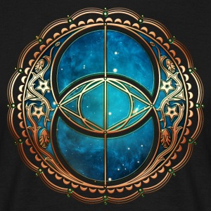 Vesica Piscis, Chalice Well, Sacred Geometry space T-Shirts - Men's T-Shirt