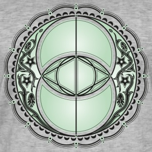 Vesica Piscis, Chalice Well, Avalon, magic, celtic T-Shirts - Men's Vintage T-Shirt
