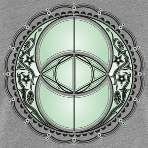 Vesica Piscis, Chalice Well, Avalon, magic, celtic T-shirts - Premium-T-shirt dam