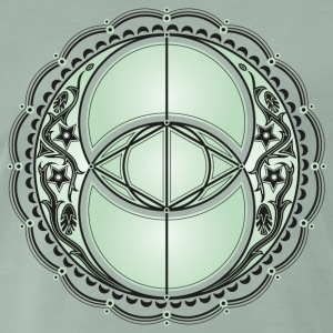 Vesica Piscis, Chalice Well, Avalon, magic, celtic T-Shirts - Men's Premium T-Shirt