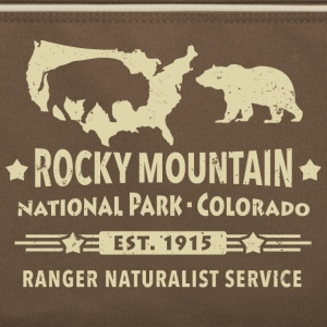 Rocky Mountain Nationalpark Berge Bison Grizzly - Retro Tasche