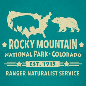 Rocky Mountain Nationalpark Berge Bison Grizzly - Männer T-Shirt