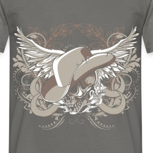 Skull with wings and head - Men's T-Shirt