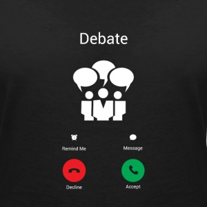 The debate gets T-Shirts - Women's V-Neck T-Shirt