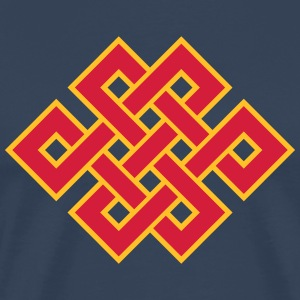 Buddhist endless knot, eternal, Tibet, celtic T-Sh - Men's Premium T-Shirt