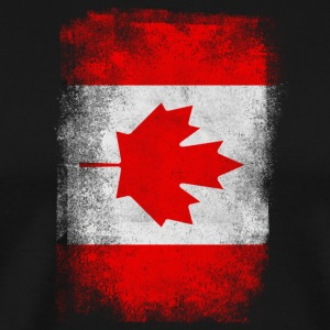 Canada Flag Proud Canadian Vintage Distressed - Premium-T-shirt herr
