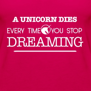 A unicorn dies Tops - Frauen Premium Tank Top