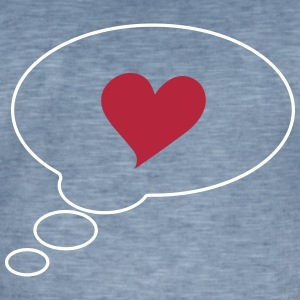 Speech bubble, bubbla, hjärtan, I love you, kärlek T-shirts - Vintage-T-shirt herr