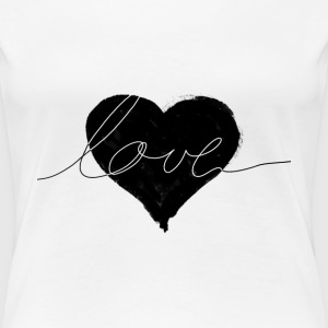 love and heart T-Shirts - Women's Premium T-Shirt