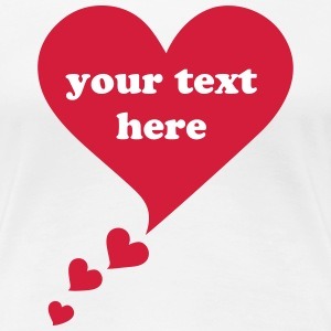 Text bubble hearts, comic bubble, speech bubble,  T-Shirts - Women's Premium T-Shirt