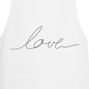hand written love  Aprons - Cooking Apron