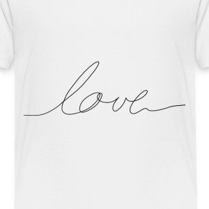 hand written love Shirts - Teenage Premium T-Shirt