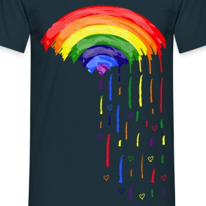 Love Rainbow Rain Men's T-Shirt - Men's T-Shirt