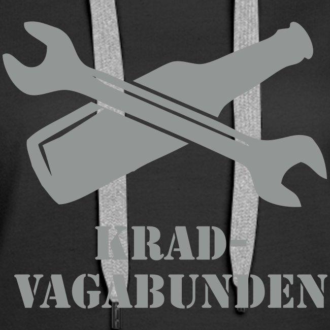 SCHRAUBENSCHLÜSSEL & PULLE - Kapuzenpulli Damen (grauer Aufdruck)