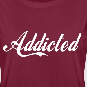 Addicted(white text) T-shirts - Dame oversize T-shirt