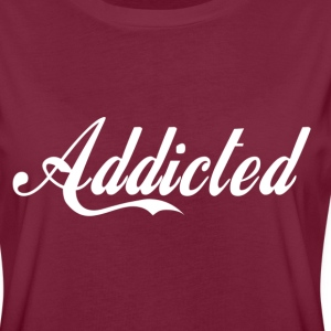 Addicted(white text) T-Shirts - Women's Oversize T-Shirt