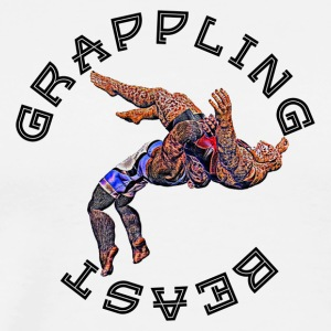 Grappling Beast (ape vs jaguar) - Men's Premium T-Shirt
