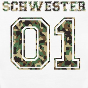 Schwester 01 camo 2 Tops - Frauen Premium Tank Top