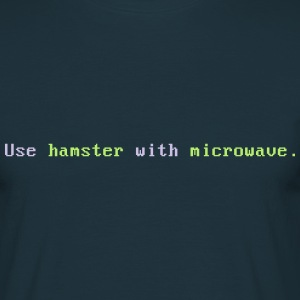 Hamster with microwave - Männer T-Shirt