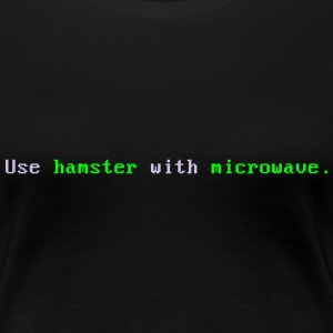 Hamster with microwave - Frauen Premium T-Shirt
