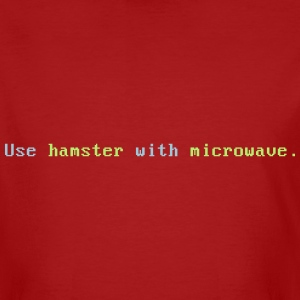 Hamster with microwave - Männer Bio-T-Shirt