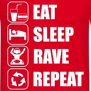 Eat,sleep,rave,repeat  - Men's T-Shirt