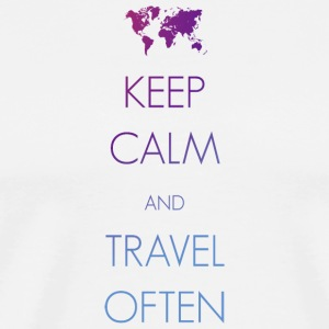 Keep calm and travel often - Männer Premium T-Shirt