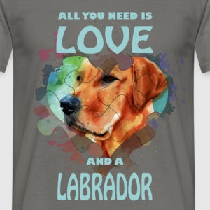 All you need is love and a Labrador - Men's T-Shirt