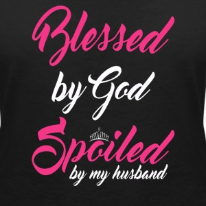 Blessed by God, spoiled by my husband T-Shirts - Women's V-Neck T-Shirt