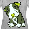 Pit Bull Terrier Puppy Greens - Women's Oversize T-Shirt