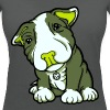 Pit Bull Terrier Puppy Greens - Women's Organic V-Neck T-Shirt by Stanley & Stella