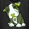 Pit Bull Terrier Puppy Greens - Kids' Premium Zip Hoodie