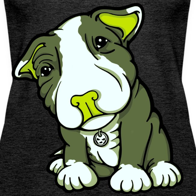 Pit Bull Terrier Puppy Greens