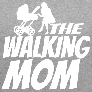 THE WALKING MOM6 T-Shirts - Frauen T-Shirt mit gerollten Ärmeln