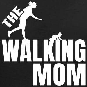 THE WALKING MOM1 T-Shirts - Frauen T-Shirt mit V-Ausschnitt