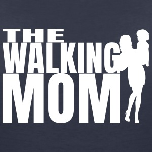 THE WALKING MOM T-Shirts - Frauen T-Shirt mit V-Ausschnitt