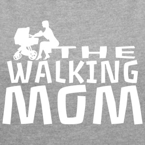 THE WALKING MOM7 T-Shirts - Frauen T-Shirt mit gerollten Ärmeln